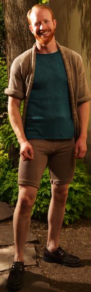 Photo of man wearing shorts