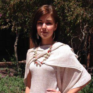 Photo of woman wearing Linen Mix Petite Ruana