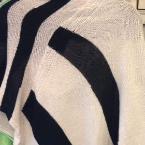 DC KNITS Chameleon Wrap Cashmere striped