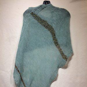 DC KNITS Chameleon Wrap Aqua mixed stripes